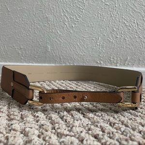NWT Ann Taylor Wide Leather Tab Belt
